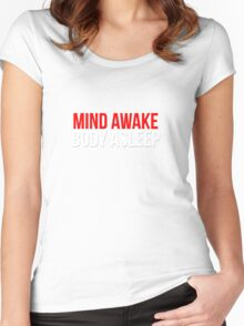 Mind Awake, Body Asleep // Mr Robot Women's Fitted Scoop T-Shirt