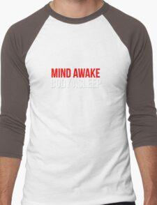 Mind Awake, Body Asleep // Mr Robot Men's Baseball ¾ T-Shirt