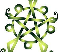 Celtic Knot Earth Pentagram by tarafly