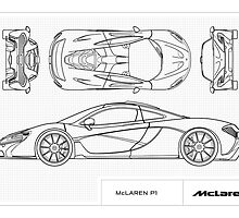 McLaren P1 - BluePrint by SamSaab