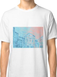 Colorful artistic watercolor of classical buildings Classic T-Shirt