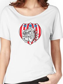 red white bulldog Women's Relaxed Fit T-Shirt