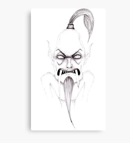Angry, old, toothless creep  Canvas Print