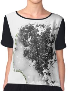 Double Exposure Portrait Chiffon Top