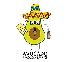 Avocado - A mexican lawyer Photographic Print