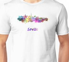 Seville skyline in watercolor Unisex T-Shirt
