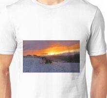 Whisky and sunrise in Gwynedd Unisex T-Shirt