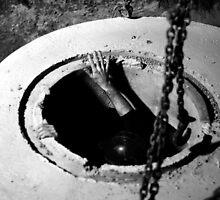 Manhole Manhandling at Night by Erick Sodhi
