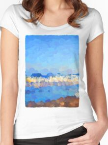Waves Rolling In Women's Fitted Scoop T-Shirt