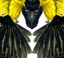 Birds in black Sticker