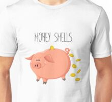 Cute piggy bank with gold coins Unisex T-Shirt