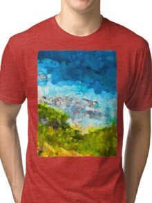Water on the Rocks 1 Tri-blend T-Shirt