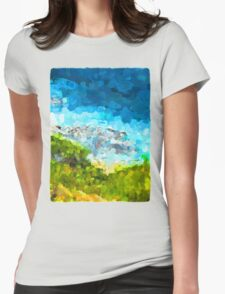 Water on the Rocks 1 Womens Fitted T-Shirt