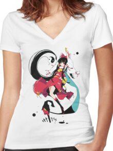 Touhou - Reimu Hakurei Women's Fitted V-Neck T-Shirt