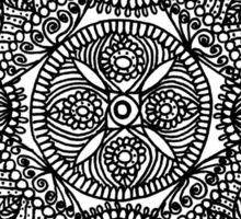 Flower and petals mandala repeat - OneMandalaADay Sticker