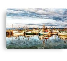 The Fleet's in - painted Canvas Print