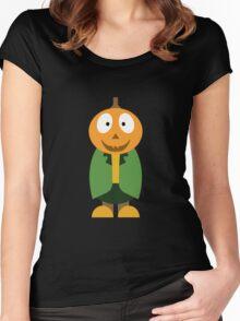 Halloween Pumpkin Women's Fitted Scoop T-Shirt