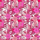 Pink apple flowers pattern by Marishkayu