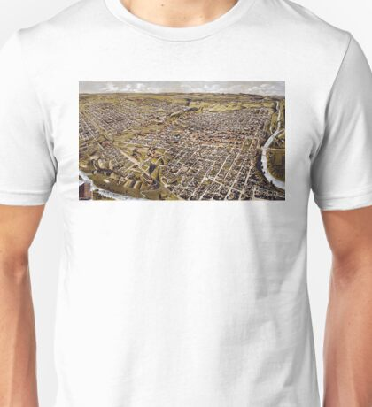 Perspective map of Fort Worth, Texas - 1891 Unisex T-Shirt
