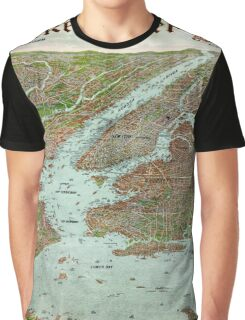 Panoramic view of New York City and vicinity - 1912 Graphic T-Shirt