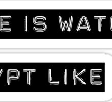 Encrypt like everyone is watching (B&W BG) Sticker