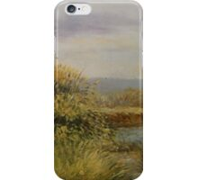 A Walk by the Lake - Representational Landscape iPhone Case/Skin