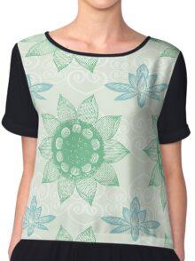 Om Design,lotus flower, Chiffon Top