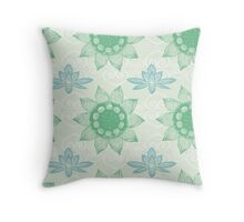 Om Design,lotus flower, Throw Pillow
