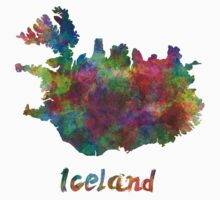 Iceland in watercolor Kids Tee