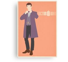 Doctor Who No. 12 Matt Smith - poster & stickers Canvas Print