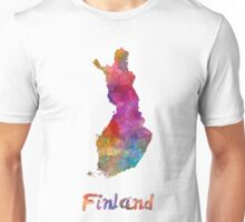 Finland  in watercolor Unisex T-Shirt