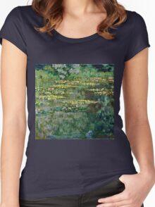 Claude Monet - Le Bassin des Nympheas (1904)  Women's Fitted Scoop T-Shirt
