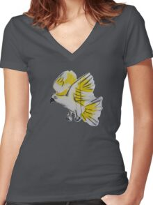 Curious Cocky Women's Fitted V-Neck T-Shirt