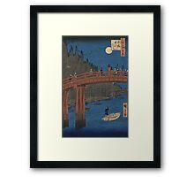 Bamboo yards, Kyobashi - Hiroshige Ando - 1857 Framed Print
