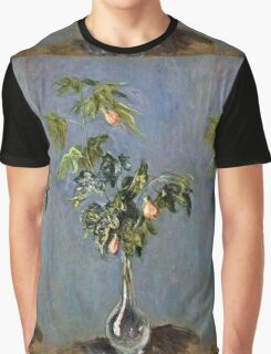 Claude Monet - Flowers In A Vase 1888  Graphic T-Shirt