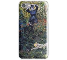 Claude Monet - Camille And Jean Monet In The Garden At Argenteuil iPhone Case/Skin