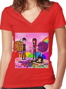 Candyland Women's Fitted V-Neck T-Shirt