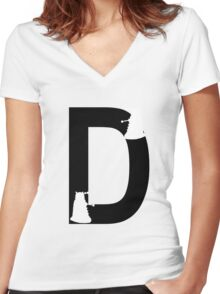 D is for Dalek Women's Fitted V-Neck T-Shirt