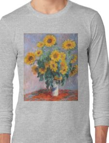 Claude Monet - Bouquet Of Sunflowers Long Sleeve T-Shirt