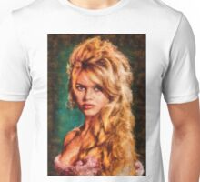 Brigitte Bardot Hollywood Icon by Mary Bassett Unisex T-Shirt