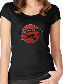 Space Cowboy - Red Sun Women's Fitted Scoop T-Shirt
