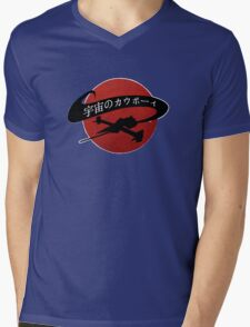 Space Cowboy - Red Sun Mens V-Neck T-Shirt
