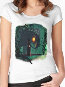 Bioshock Infinite Songbird & Elizabeth Women's Fitted Scoop T-Shirt