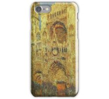 Claude Monet - Rouen Cathedral At Sunset iPhone Case/Skin