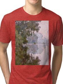 Claude Monet - Morning On The Seine, Near Giverny  Tri-blend T-Shirt