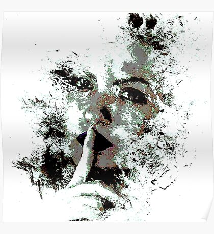 Cool Graphic Abstract Woman's Face Poster