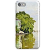 Claude Monet - Houses On The Achterzaan 1871  iPhone Case/Skin