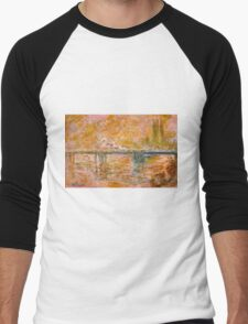 Claude Monet - Charing Cross Bridge in London ( 1902)  Men's Baseball ¾ T-Shirt