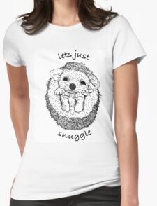 Hedgehog snuggle Womens Fitted T-Shirt