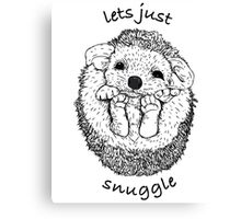 Hedgehog snuggle Canvas Print